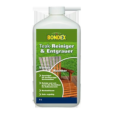 Hervorragend Teakmöbel Entgrauer zum Entgrauen von Teakholz - auf Bondex.de YS41